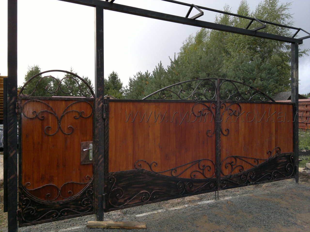 Ворота своими руками из металла фото 25